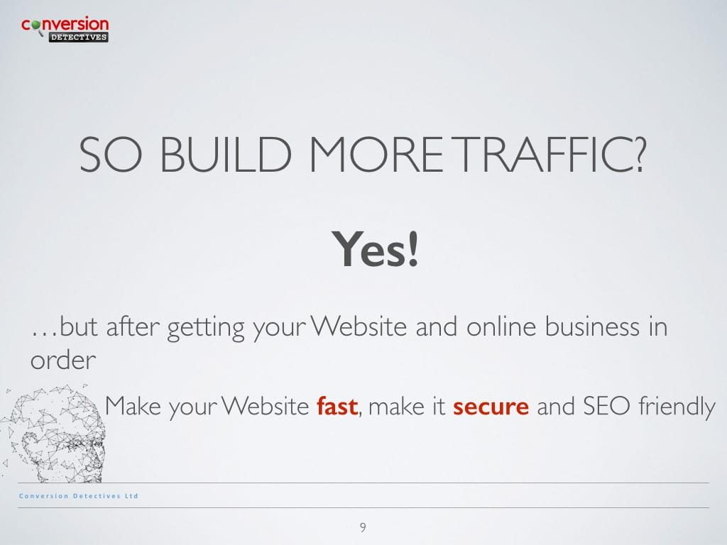 So Build More Traffic