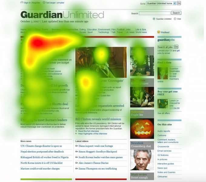 Heat map image for digital marketing jargon buster